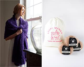 Loopy Mango DIY Knit Kit - Wrap - Mohair So Soft (Milk Tea)
