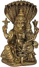 Fine Quality Narasimha with Lakshmi (The Fourth Avatar of Lord Vishnu) - Brass Statue