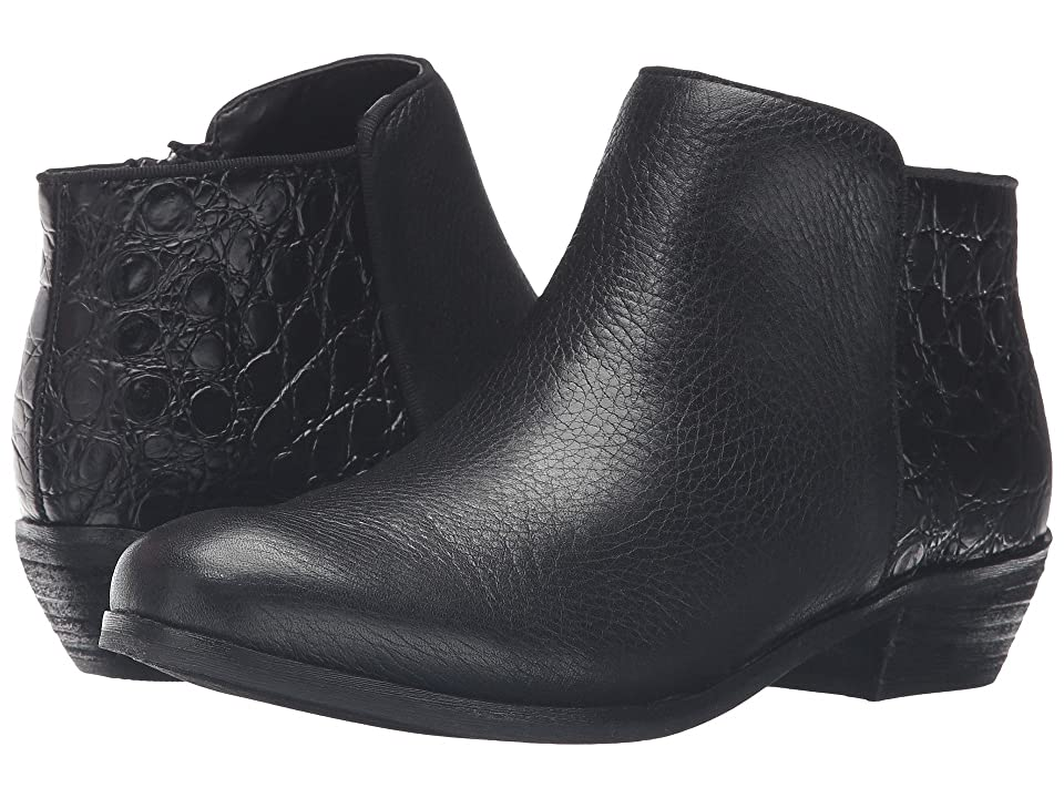 SoftWalk Rocklin (Black Tumbled Leather/Croco Leather) Women
