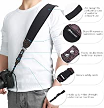 Powerextra Camera Neck Shoulder Strap and Wrist Strap w/Quick Release and Safety Tether Suitable for Nikon Sony Olympus Pentax fujifilm Panasonic Canon Camera SLR DSLR