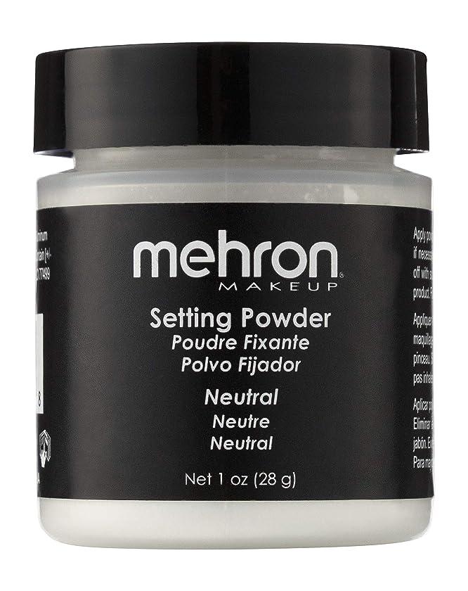 で出来ている通信網マトリックスmehron UltraFine Setting Powder with Anti Perspriant Neutral (並行輸入品)