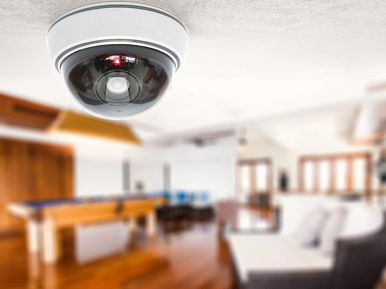 Dummy Kamera Attrappe mit Objektiv Videoüberwachung Warensicherung ...