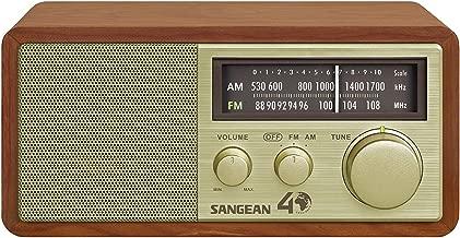 Sangean FM/AM Analog Wooden Cabinet Receiver