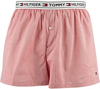 TOMMY HILFIGER Men's Authentic Woven Boxers, Pink, S