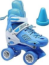 WiiSHAM Fun Roll Adjustable Roller Skates with Four Piles