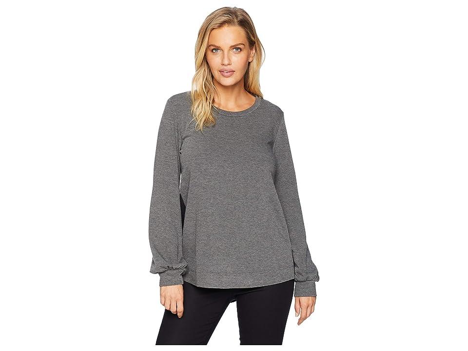 Karen Kane Long Sleeve Contrast Sweater (Dark Heather Grey) Women