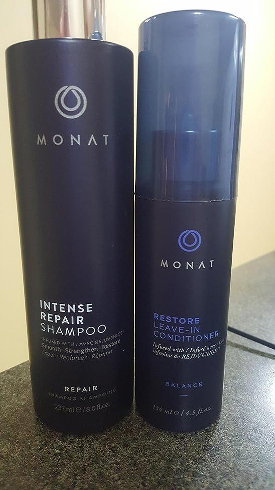Monat Restore set Leave-In Conditioner and intense repair shampoo