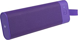 KitSound BoomBar+ Portable Wireless Speaker with Hands-Free Call Function and Carry Pouch, Purple