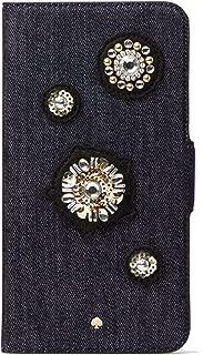 Kate Spade Denim Embellished Folio iPhone Case (iPhone 8 Plus / 7 Plus)