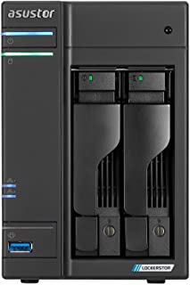 Asustor Lockerstor 2 | AS6602T | Network Attached Storage | 2.0GHz Quad-Core, Two 2.5GbE Port, Two M.2 Slot for NVMe SSD C...