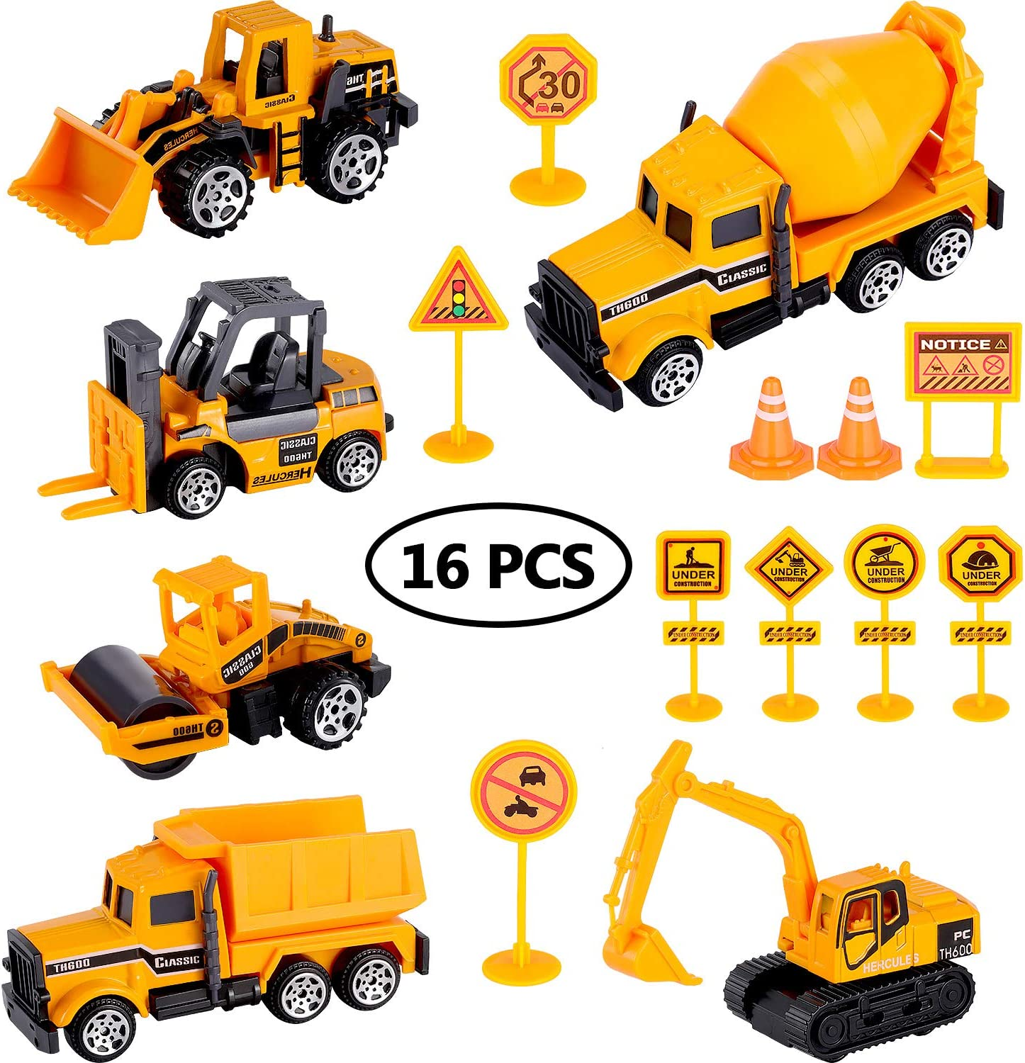 Mail order cheap Vehicle Toy Set Includes 6 Max 81% OFF Pieces Vehicles Ro 10 and Mini