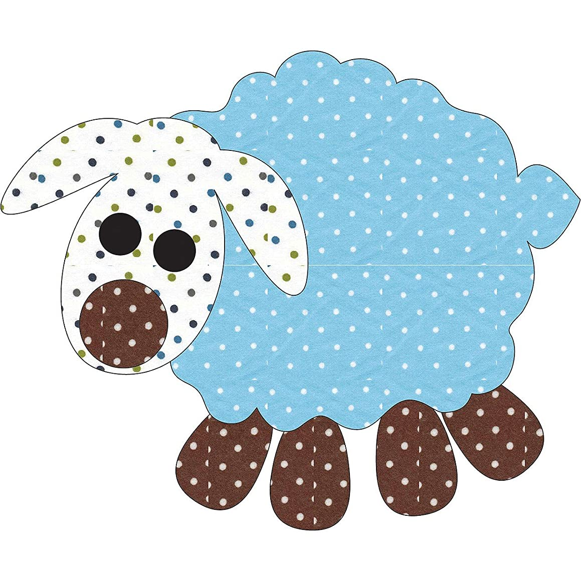 Quilting Creations Laser Cut Fusible Animal Crackers Boys Lamb Small Applique