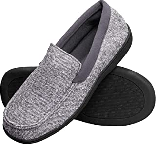 Hanes Men's Slippers House Shoes Moccasin Comfort Memory Foam Indoor Outdoor Fresh IQ