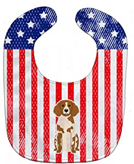Caroline's Treasures Patriotic USA Baby Bib, Brittany Spaniel, Large