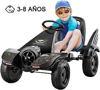 COSTWAY Go Kart para Niños Coche con Pedal/ Asiento Ajustable / Ruedas/Embrague y Freno Infantil Vehículo de Juguete para Niños
