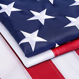 Homissor 4x6 FT American Heavy Duty Flag 100% Made in US with Stitch Embroidered Stars Sewn Stripes and Brass Grommets Hea...