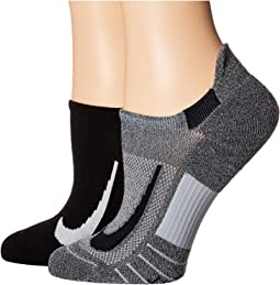 Multiplier Running No Show Socks 2-Pair Pack