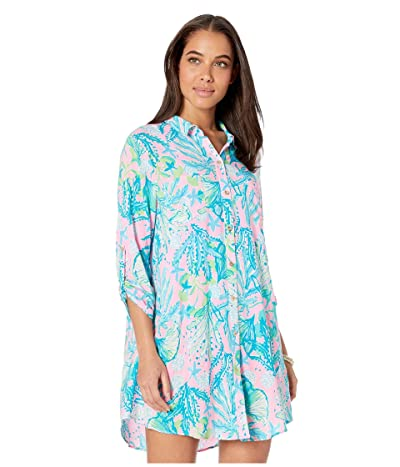 Lilly Pulitzer Natalie Cover-Up (Mandevilla Baby Hip Nautic) Women