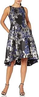 Women's Metallic Jacquard Hi Low Dress