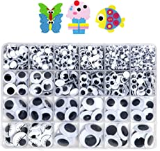 Sponsored Ad - 1210pcs Googly Wiggle Eyes Self Adhesive, for Craft Sticker Multi Sizes 4mm to 25mm for DIY by ZZYI