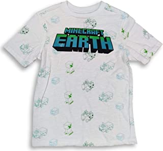 Minecraft Shirt Earth Characters All Over Print Tee for Boys