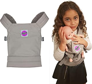Analog-Kids Baby Doll Carrier for Girls and Boys Backpack Carrier for Front or Back Wear | Comfortable and Fun for Kids and Toddlers Pretend Baby and Toy Doll | Galaxy Grey | Cotton Canvas