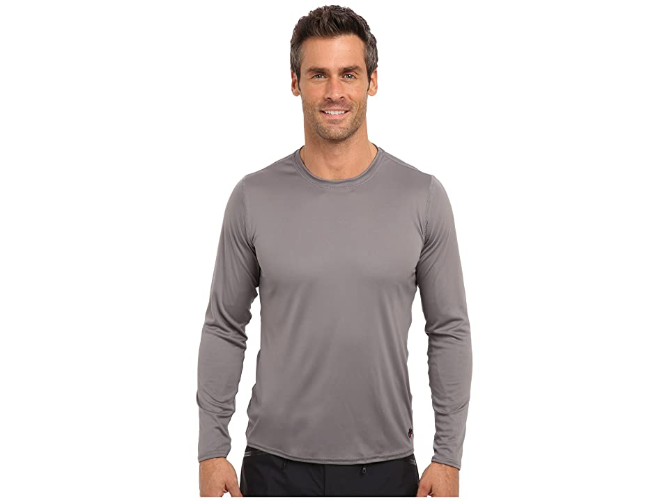 Hot Chillys Peach Solid Crewneck (Charcoal) Men