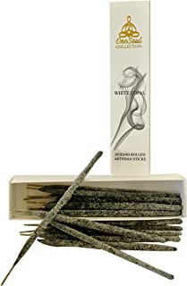 OneSoul Collection 20 White Copal Incense Sticks Premium Artesian Hand Rolled
