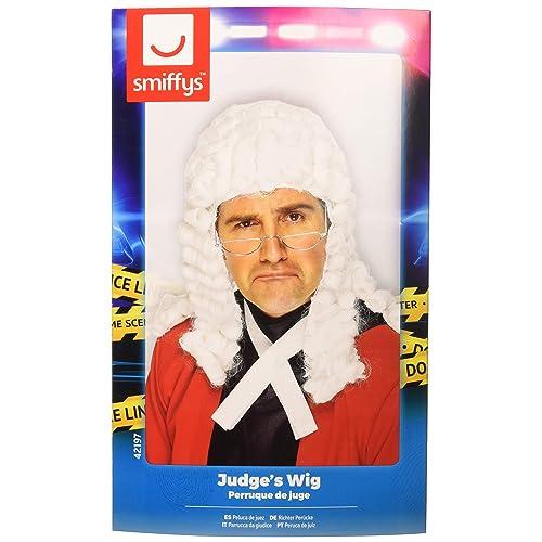 Smiffys Mens Judges Wig