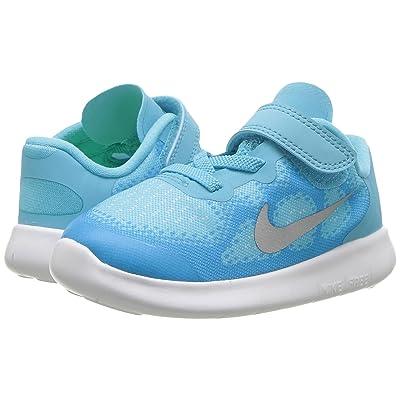 Nike Kids Free RN 2017 (Infant/Toddler) (Polarized Blue/Metallic Silver/Blue Fury) Girls Shoes