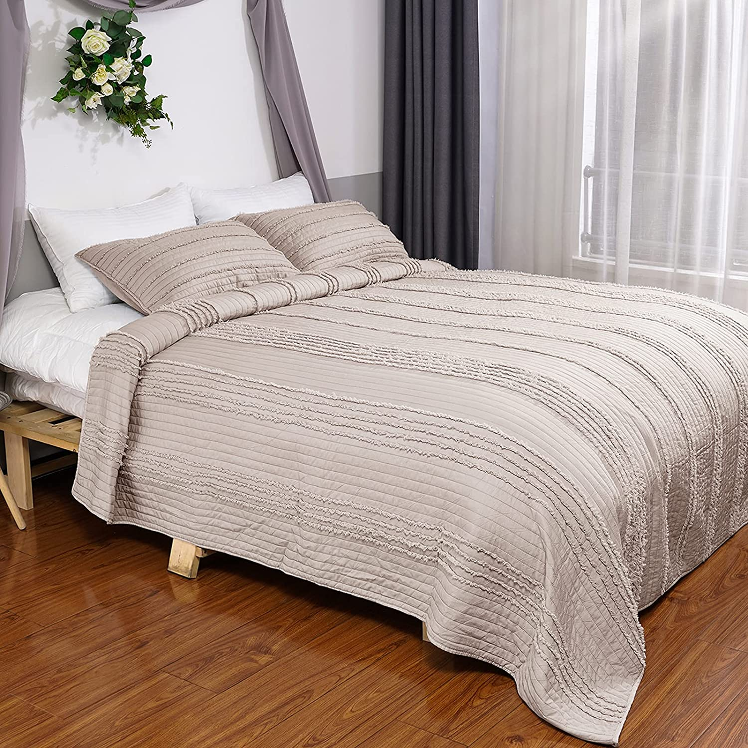 COMSLE Quilt Set Full Queen Max 59% OFF Size Coverlet Pieces - Soft 3 Bombing free shipping Super