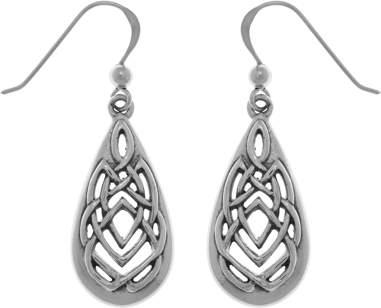 Jewelry Trends Sterling Bombing free shipping Silver Sale price Celtic Knot Teardrop Dangle Earri