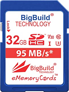 BigBuild Technology UHS-I U3 - Tarjeta de Memoria para Canon IXUS (95 MB/s, Incluye 160/162/165/170/175/177/180/185/190/285 HS y más cámara)