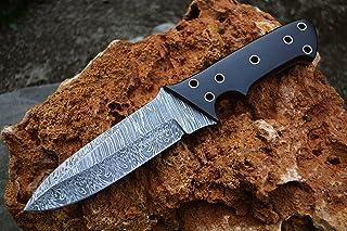 Image of Rattlesnake Knives Custom Handmade Damascus Hunting Knife Skinner Knife Camping Knife Hunter Tactical Combat Military Knife TOP Notch!