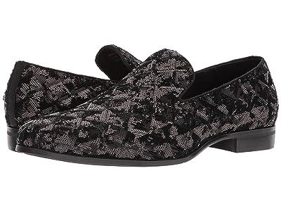 Stacy Adams Swank Sequined Loafer (Black/Silver) Men