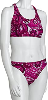 Speedo Women's Race Xtra Life Lycra Retro Floral Overall Print Technoback Two Piece Swimsuit