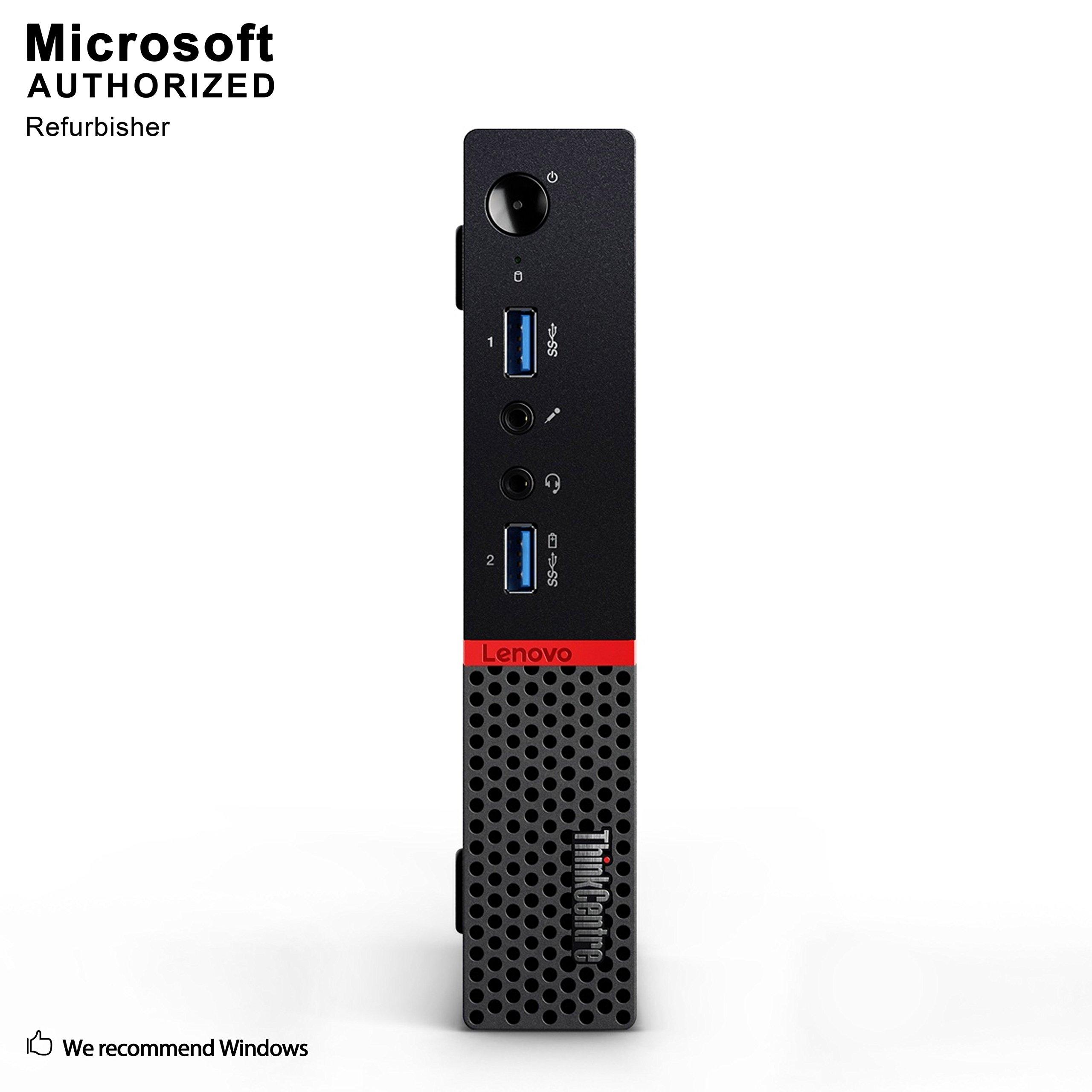 Lenovo ThinkCentre M700 Tiny Business Desktop PC Bluetooth 4.0 WiFi 16G DDR4 1T Intel Quad Core i7-6700T up to 3.6GHz Renewed Windows 10 64-Multi-Language Support English//Spanish//French