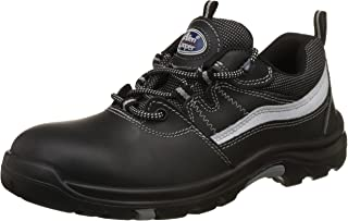 Allen Cooper AC-1425 Heat Resistant Safety Shoe, ISI Marked for IS:15298 Pt-2, PU Midsole NR OutSole, Size 7 (Black)