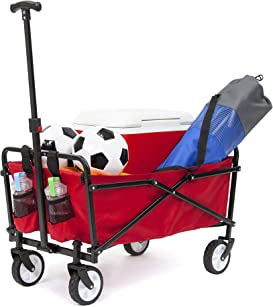 Explore shopping wagons for groceries