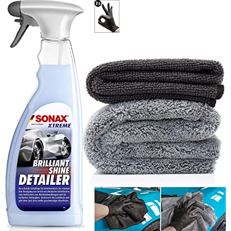 1l Quick Wash Waterless Car Cleaner Mit Mango Duft 2x Mikrofasertuch Zum Schnellen Reinigen Von Lack Folien Felgen Innenraum Und Mehr Auto