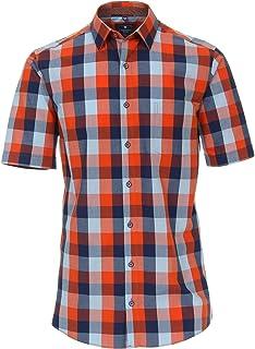 201055999 Redmond-Regular Fit-Hommes Manches Courtes Chemise Avec Button Down Col