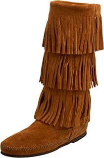 Best womens wide fringe boots Reviews
