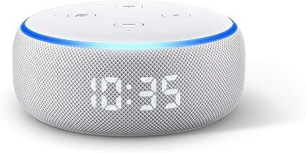 Echo Dot (3ème génération), Enceinte connectée avec horloge et Alexa, Tissu sable