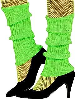 Guirca Sexy Neon grün Bein Arm Stulpen für Damen zum 80er Jahre Damenkostüm Fasching