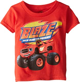 Nickelodeon Blaze and The Monster Machines Little Boys' Toddler Short Sleeve T-Shirt, Red, 2T