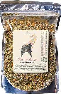 Modest Earth Strong Stress Tea | 100% ORGANIC Calming, HERBAL BLEND | Naturally Calming Herbal Remedy | SKULLCAP BLEND | Relaxing Remedy & Sleep Aid | 48+ SERVING Bag (2.03 OZ)