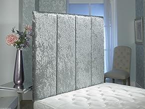 Excellent Crushed Velvet Alton Wall HEADBOARD 2ft6,3ft,4ft,4ft6,5ft,6ft !! (6FT Super Kingsize 36'', Silver)