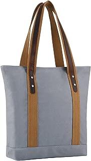 Plambag Canvas Genuine Leather Shopper Tote Retro Shoulder Bag