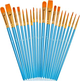 Acrylic Paint Brushes Set, 20Pcs Artist Paintbrushes...