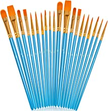 Soucolor Acrylic Paint Brushes Set, 20Pcs Artist Paintbrushes Paint Brushes for Acrylic Oil Watercolor, Canvas Body Face R...